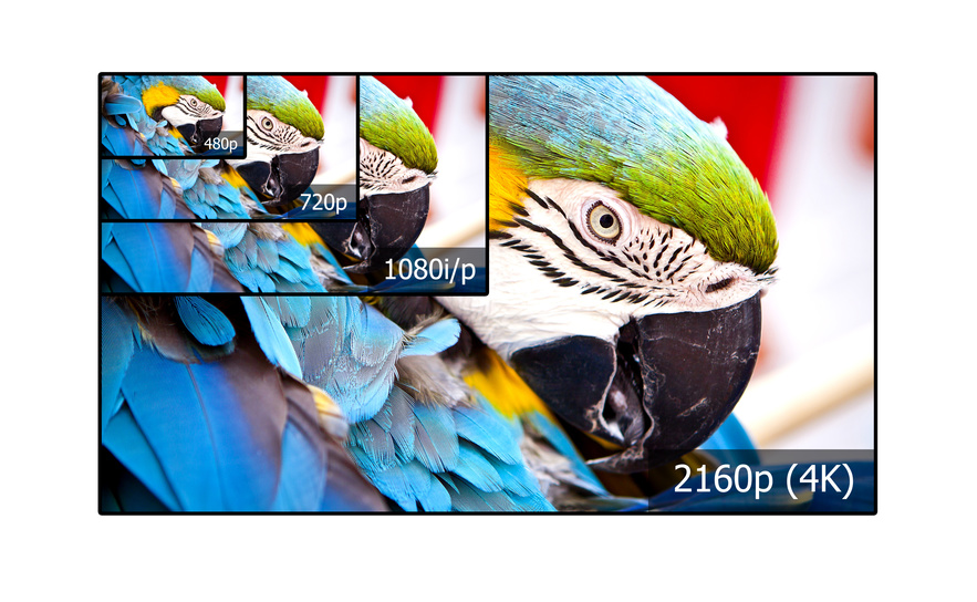 4k Auflösung TV Logo